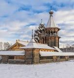 The corner view of Pokrovskaya church. Royalty Free Stock Images