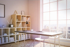 Corner view of study room Royalty Free Stock Image