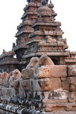 Corner Wall of Shore Stone Temple. At South India (Mahabalipuram Stock Photo
