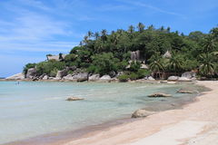 Corner of white beach on Koh Tao island Stock Photography