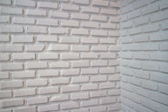 Corner white brick wall Royalty Free Stock Photos