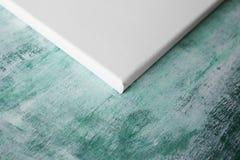 Corner of the white primed canvas Stock Image