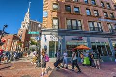Corner of Winter and Park Street Boston Massachusetts Stock Images