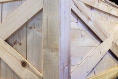 Corner of wooden box Royalty Free Stock Photo