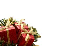 Cornered christmas presents Stock Photography