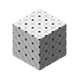 Cornered Cube 64 Grey Multiply and Plus Faced Royalty Free Stock Photography