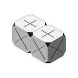 Cornered Cube Grey Multiply and Plus Faced. Gray Cube with Dark Cornered Royalty Free Stock Photography