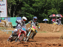 Cornering Motocross Motorcycle Stock Photos