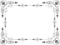 Corners and borders. Elegant page decorations Royalty Free Stock Photography