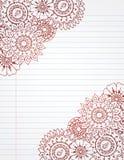 corners henna stock illustrationer