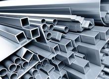 corners metalliska rørtyper Arkivfoto