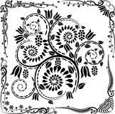 Corners and ornaments. Vector floral corners and ornaments Royalty Free Stock Images