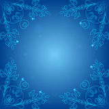 Corners patterns on a blue background, Stock Photo