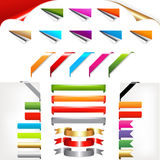 Corners And Ribbons. Vector Stock Image