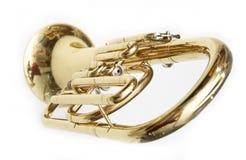 Cornet. Trumpet cornet on white background Royalty Free Stock Photos