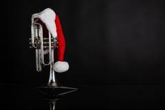 Cornet avec le chapeau de Santa Photo stock