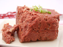 Cornet beef. Some fresh cornet beef on a plate Stock Photography
