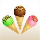 Cornet de crème glacée Photo stock