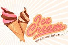 Cornet de crème glacée Images stock