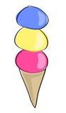 Cornet de crème glacée illustration de vecteur