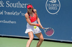 Cornet 231. Mason, Ohio – August 15, 2017:  Alize Cornet in a first round match at the Western and Southern Open tennis tournament in Mason, Ohio, on August 15 Stock Photo
