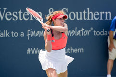 Cornet 232. Mason, Ohio – August 15, 2017:  Alize Cornet in a first round match at the Western and Southern Open tennis tournament in Mason, Ohio, on August 15 Stock Photos