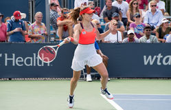 Cornet 242. Mason, Ohio – August 16, 2017:  Alize Cornet in a second round match at the Western and Southern Open tennis tournament in Mason, Ohio, on August Royalty Free Stock Photo