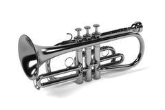 Cornet musical instrument Stock Image