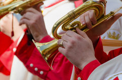 Cornet player Royalty Free Stock Image