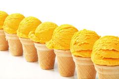 Cornets de crème glacée Photos stock