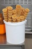 Cornets de crème glacée Images libres de droits