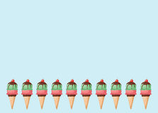 Cornets de crème glacée Image stock