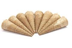 Cornets de crème glacée de gaufre Image libre de droits