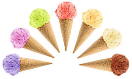 Cornets de crème glacée Photographie stock