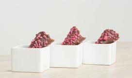 Cornette del cioccolato Fotografia Stock Libera da Diritti