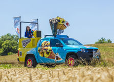 Cornetto Vehicle - Tour de France 2016 Stock Photo