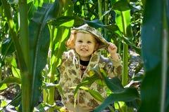 cornfield αγοριών Στοκ Φωτογραφία