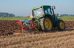 cornfield συγκομισμένο αγρότης όρ Στοκ φωτογραφία με δικαίωμα ελεύθερης χρήσης