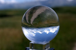 The cornfield  in the crystal ball Stock Image