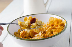 Cornflake Breakfast Setting Royalty Free Stock Photography