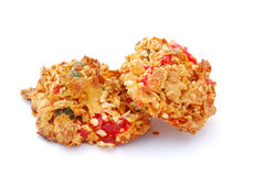Cornflake and Candied Fruit Cookies Royalty Free Stock Photos