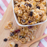 Cornflake with raisin Royalty Free Stock Photos