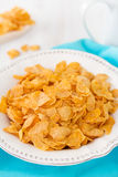 Cornflake in white dish Royalty Free Stock Photo
