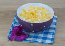cornflakes завтрака Стоковое Фото
