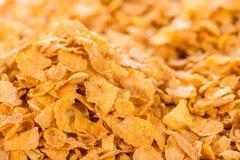 cornflakes принципиальной схемы завтрака предпосылки здоровые Стоковая Фотография