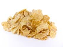 Cornflakes. Isolated on white background royalty free stock photo