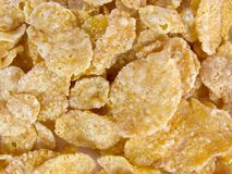 Cornflakes. Sweet crunchy cornflakes for breakfast stock images