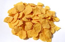 Cornflakes. A bunch of cornflakes royalty free stock photos