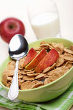 Cornflakes with apple Royalty Free Stock Image