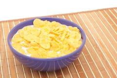Cornflakes avec du lait images libres de droits